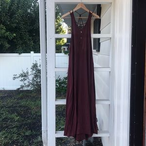 Burgundy Urban Outfitters maxi dress